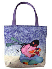 Joyous Motherhood by Cecil Youngfox Tote or Pouch