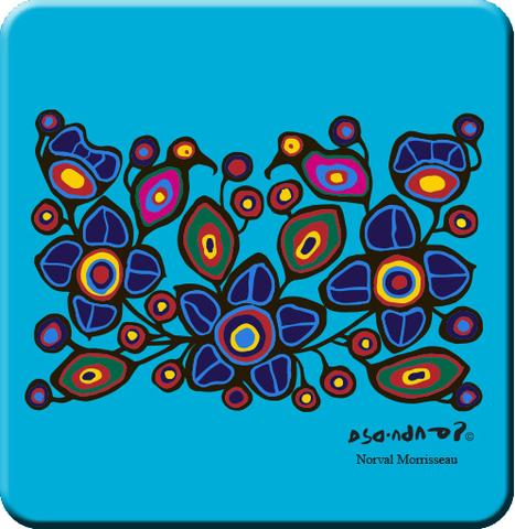 Flowers and Birds by Norval Morrisseau Coasters
