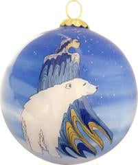 Mother Winter Glass Ornament