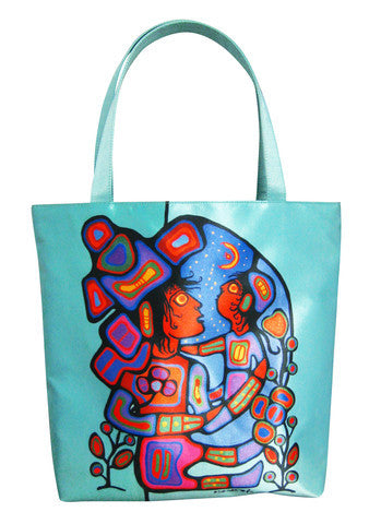 Mother & Child by Norval Morrisseau Tote and Pouch
