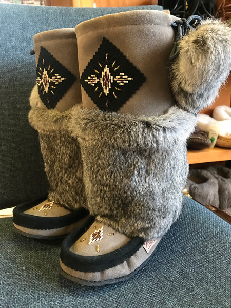 Grey with Black Mukluks