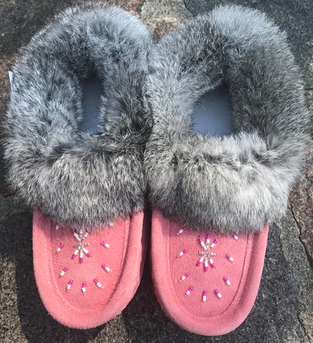 Pink Classic Fur Moccasins