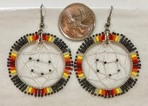 Dreamcatcher Earrings- Beaded