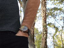 Orologio in legno e pelle nera • Okulars® Leather Watch