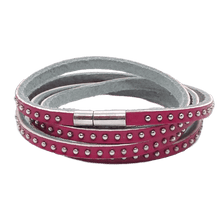 Bracciale Strass in Pelle Colorata