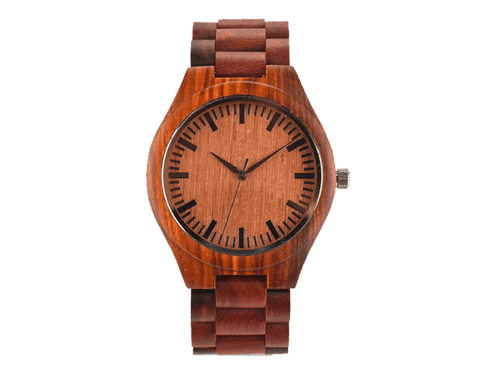 Orologio in legno Rosso • Okulars® Wood Watch