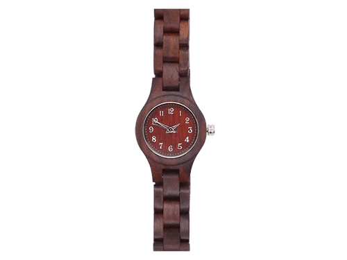 Orologio in legno rosso • Okulars® Watch
