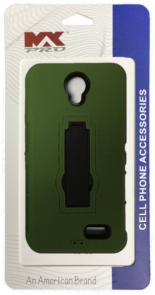 ZTE Avid Plus Kickstand Robot Case (Green)