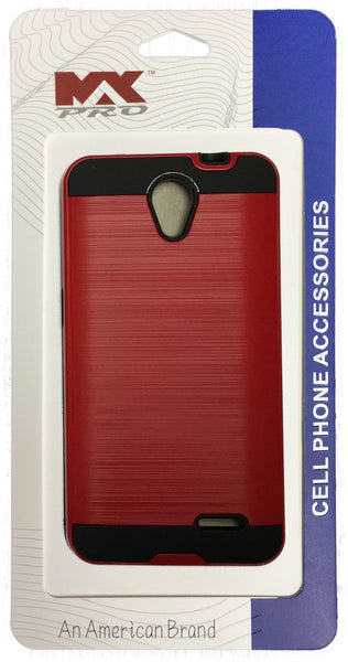 ZTE Avid Plus Metallic Color Case RED