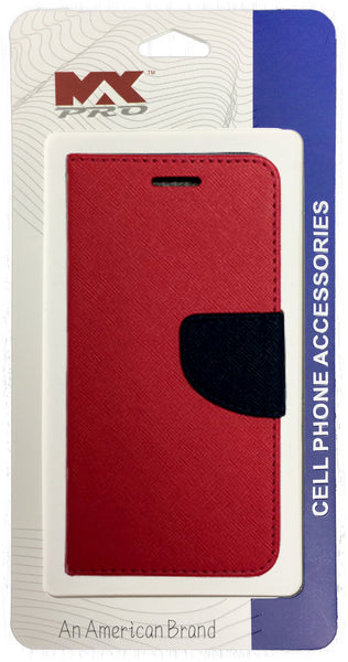 ZTE Obsidian Wallet Case PURPLE RED