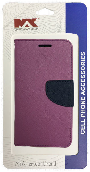 LG Leon Wallet Case PURPLE