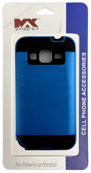 Samsung Galaxy Core Prime Electroplating Metallic Color Case (BLUE)