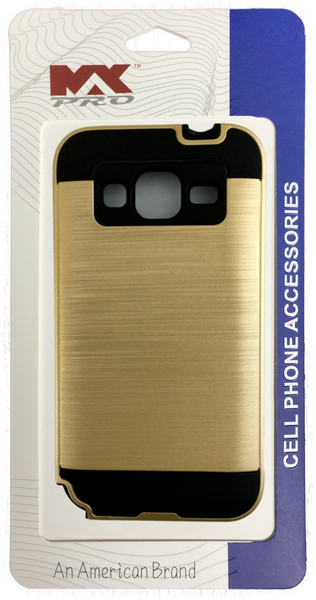 Samsung Galaxy Core Prime Electroplating Metallic Color Case (GOLD)
