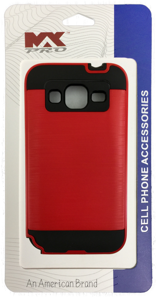 Samsung Galaxy Core Prime Electroplating Metallic Color Case (RED)
