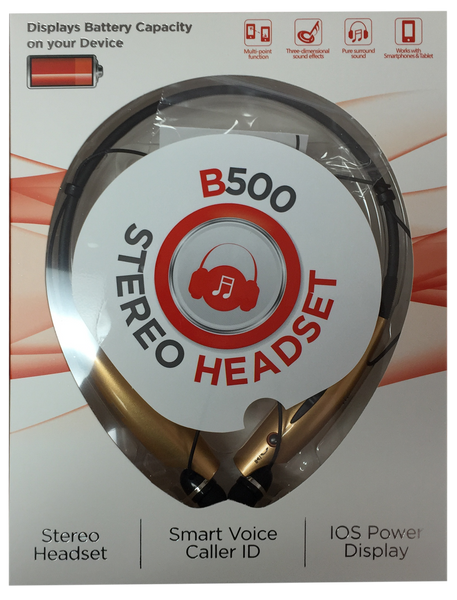Bluetooth Wireless Stereo Headset (B500) GOLD