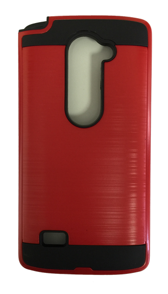 LG Leon Electroplating Metallic Color Case (RED)
