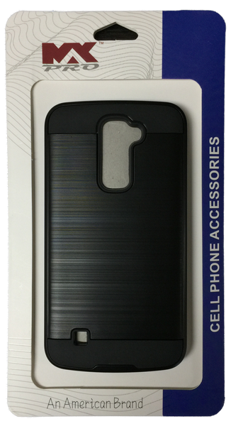 LG K10 Electroplating Metallic Case BLACK