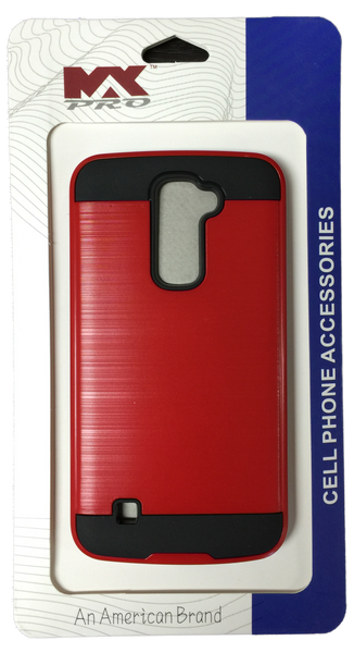 LG K10 Electroplating Metallic Case RED