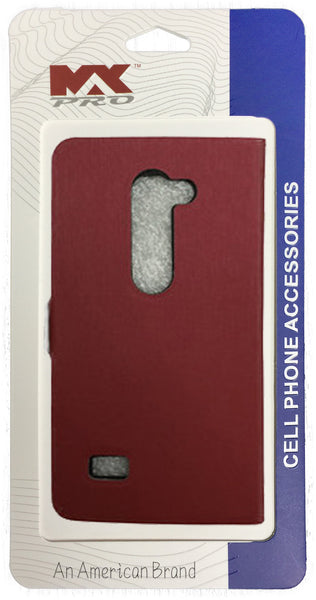 LG Leon Wallet Case Premium RED