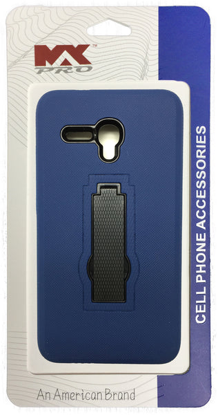 Alcatel OneTouch Fierce XL Robot Case BLUE With Kick Stand