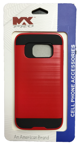 Samsung Galaxy S7 Metallic Color Case RED