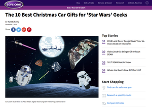 Saber WiperTag Voted #1 Best Christmas Car Gifts for 'Star Wars' Geeks