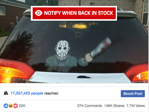 WiperTags Machete Killer on rear wiper goes VIRAL on Facebook!