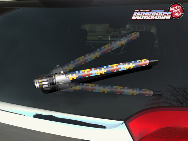 Autism Awareness Saber WiperTags