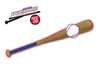 Baseball Bat Blue and Red WiperTag