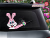 Easter Bunny Waving Egg WiperTag with Decal