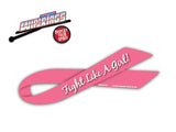 Fight Like a Girl Awareness Ribbon WiperTag