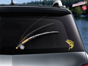 Fly Fishin' WiperTag with Fish Decal