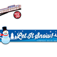 Let it Snow Snowman WiperTags