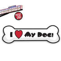 I Love My Dog Bone WiperTag