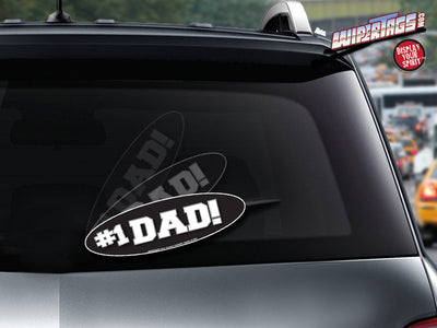 Number 1 Dad Oval WiperTag