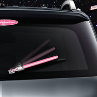 Pink WiperTags light saber wiper blade cover for vehicle