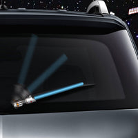 Blue WiperTags light saber wiper blade cover for vehicle