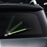 Green WiperTags light saber wiper blade cover for vehicle