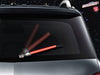 Red WiperTags light saber wiper blade cover for vehicle