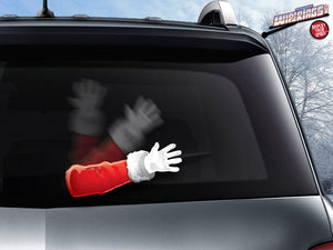 Santa Claus Waving Hand WiperTags Arm