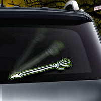 GLOWING Skeleton Arm Wave WiperTags