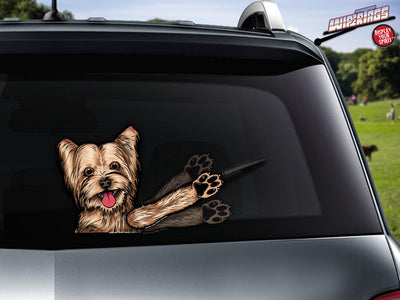 Sophie Mae Yorkie Waving WiperTags