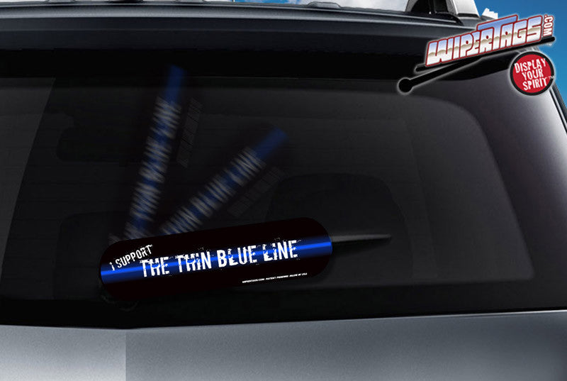 Thin Blue Line WiperTags (non reflective)