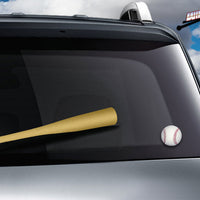 Natural Baseball Bat WiperTags with Ball Decal