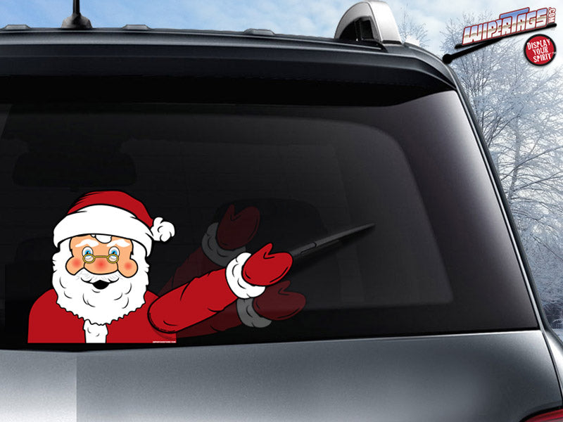 ORIGINAL Santa Claus Waving WiperTag with Decal