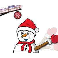 Chilly the Snowman Waving WiperTag with Decal