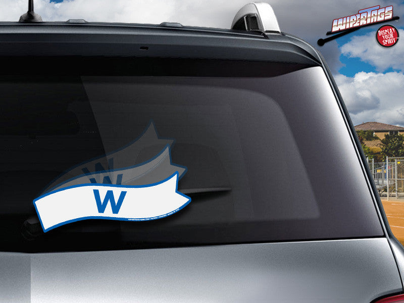 Fly the W Blue & White WiperTag