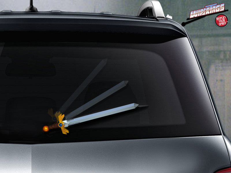 Adventure Sword WiperTag Attach to Rear wiper blade
