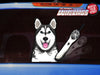 Timber the Husky Waving Dog WiperTags