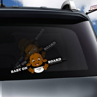 Baby on Board WiperTags (3 Skin Tones)